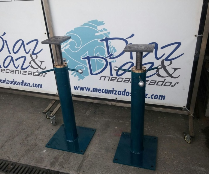 soportes regulables..mecanizados en Gijón