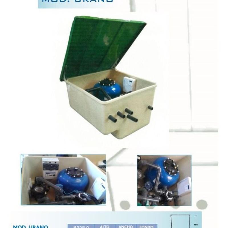 Caseta vacia Urano para depuradoras de piscinas