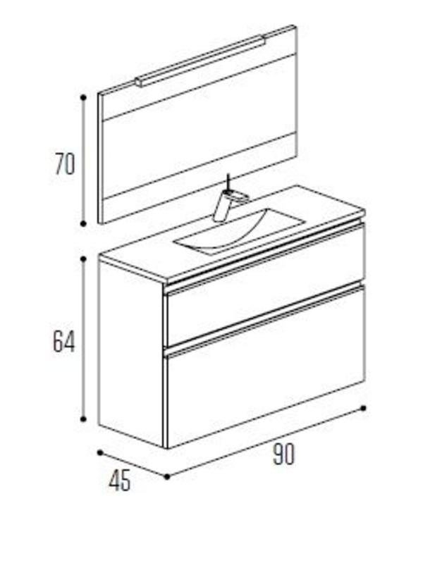 Mueble baño Kyrya Complet C19