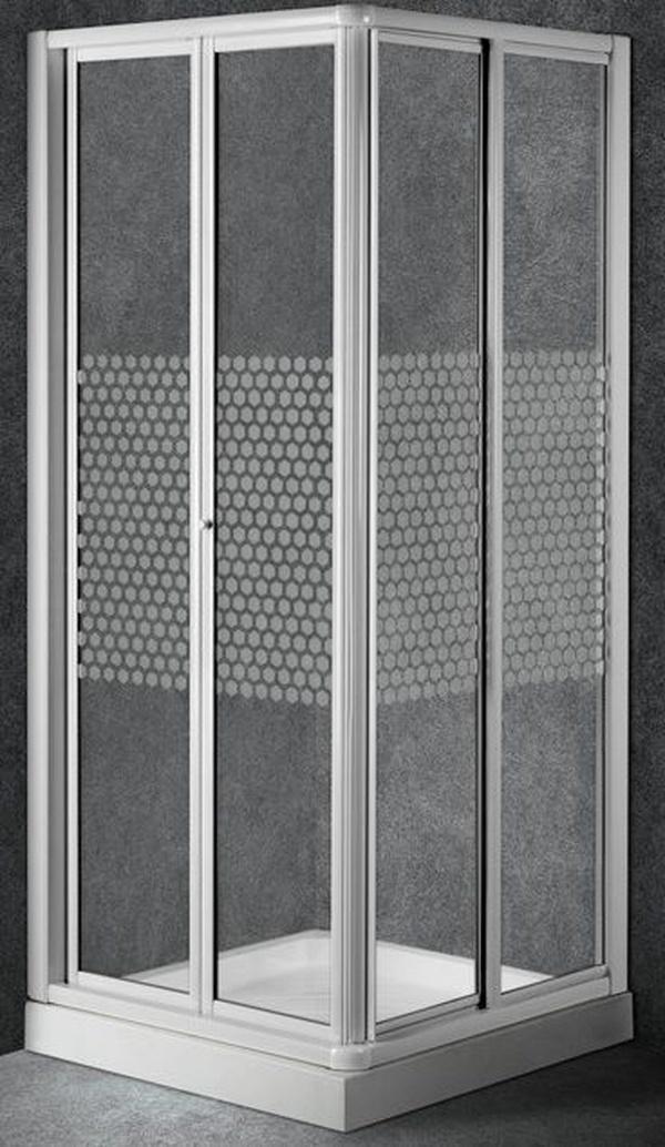 Mampara angular ducha Universal-Aria (2 hojas plegables+1 fija+1 corredera)