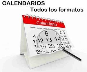 Calendarios de todos los formatos en Bilbao