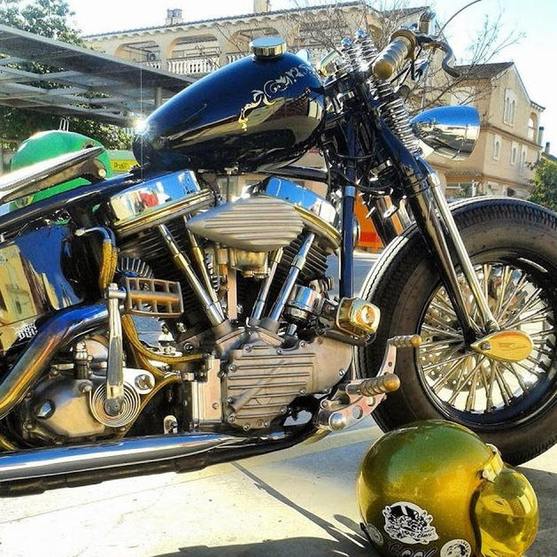Motor Panhead, Motos Custom, Motos Harley, Motos personalizada, Transformar motos Harley, Break Skull Choppers
