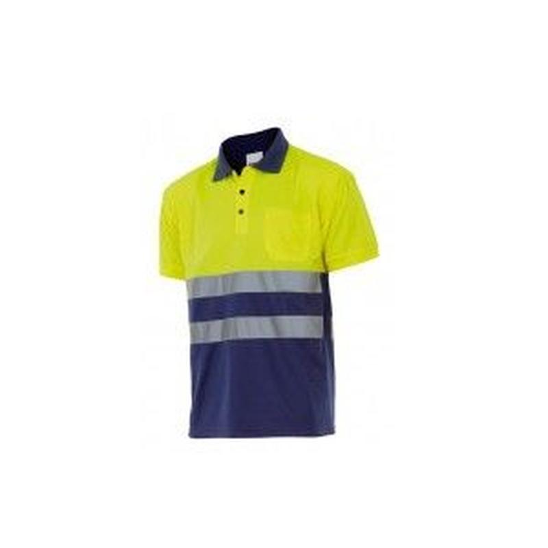 Serie 305504 / Polo bicolor manga corta alta visibilidad: Nuestros productos  de ProlaborMadrid