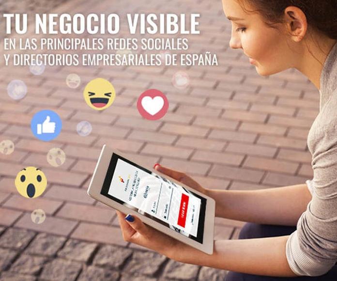 Presencia en redes sociales y directorios empresariales: Productos de QDQ media