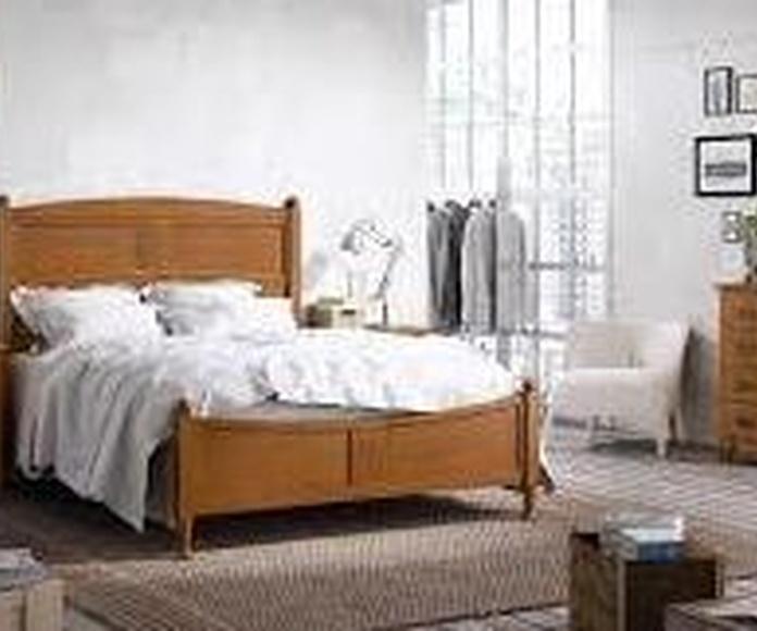 Dormitorio matrimonio en madera c/cerezo