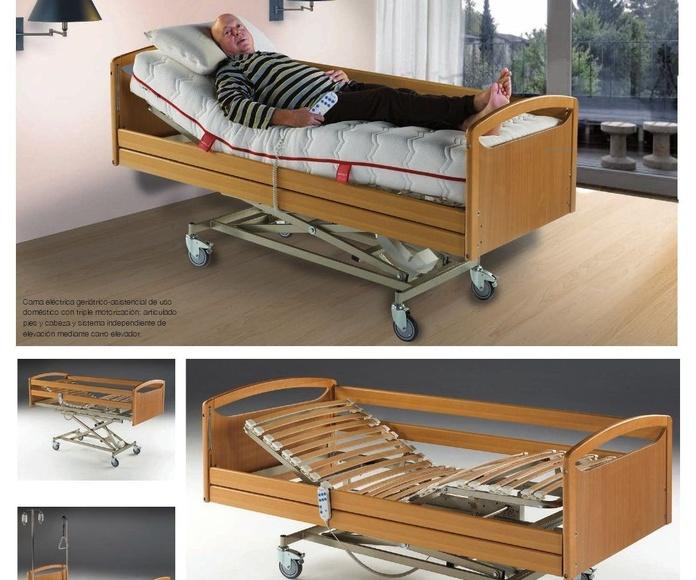 Colchones y somieres en EV Colchonerías: cama con carro elevador y barandillas, con colchon por solo 998 €
