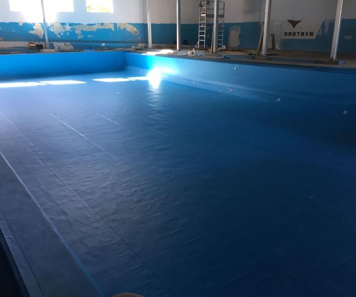 Impermeabilizacion de piscina con lamina pvc 1,5 alkorplan