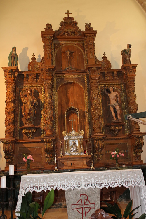 Retablo restaurado para iglesia