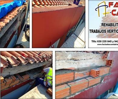 Reparación exterior de fachada o tejado.