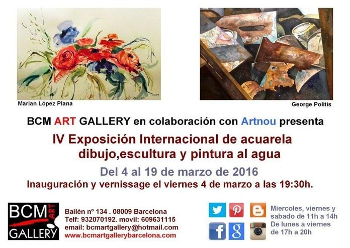 IV Exposición Internacional de Acuarela, Dibujo, Escultura y Pintura al Agu: Exposiciones y artistas  de BCM Art Gallery