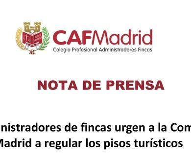 Los administradores de fincas urgen a la Comunidad de Madrid a regular los pisos turísticos