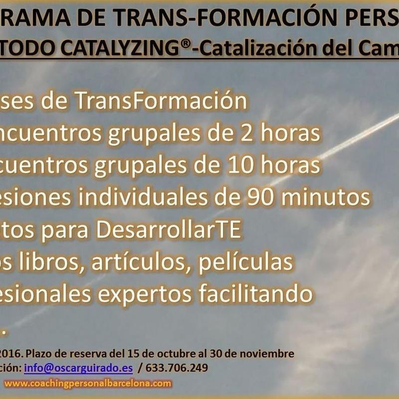 2 -  PROGRAMA 6 MESES TRANS-FORMACIÓN PERSONAL  MÉTODO CATALYZING®: En que te ayudo de El Salón de los Espejos