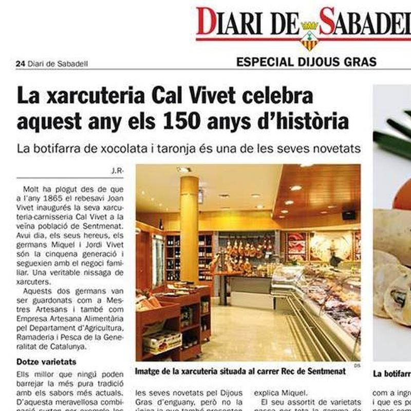 Aquest Any Carnesseria Xarcutería Cal Vivet celebra su 150 Aniversari: Catálogo de Carnisseria-Xarcuteria Cal Vivet