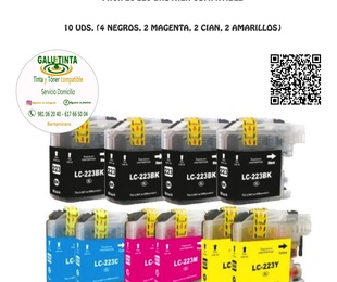 PACK LC 223 COMPATIBLE (10 UNIDADES)