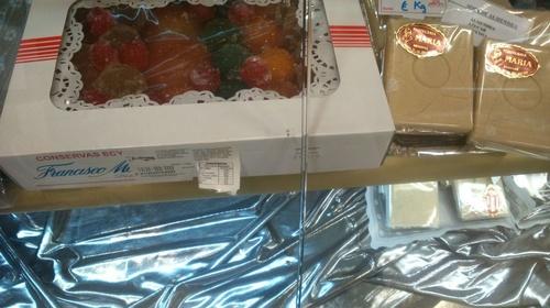 Frutas escarchadas en Pastelería María