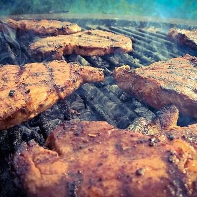 Carne a la brasa y vino de Penedés Sabor y salud
