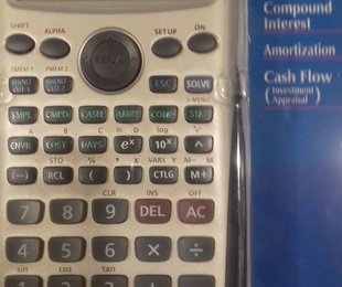 Oferta calculadora financiera Casio 44.90€