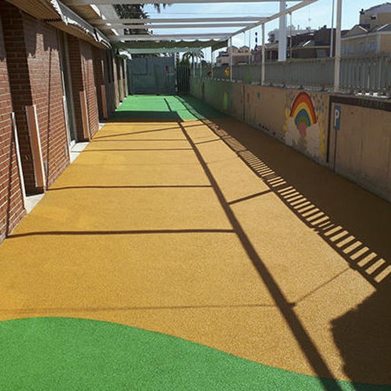 Pavimento de caucho continuo TPV: PRODUCTOS y SERVICIOS de Pavimentos de Caucho