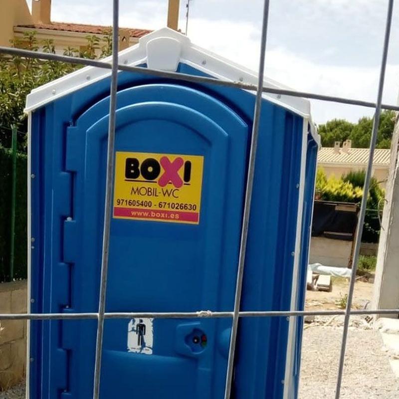 Alquiler y mantenimiento de sanitarios portátiles en obras: Productos  de Boxi Balears