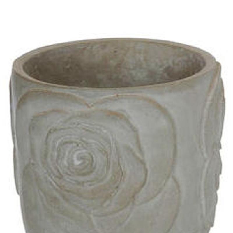 Macetero de cemento redondo (D.13 H.11 cm.) COLOR: Gris PRECIO: 2,60 €