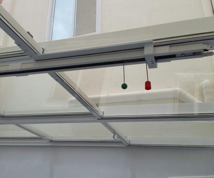 instalación de techo de corredera