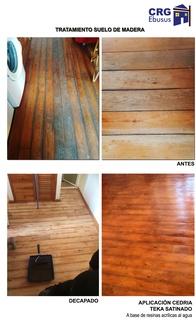 Tratamiento de suelo de madera