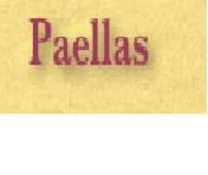Paellas: Carta de Restaurante Byp