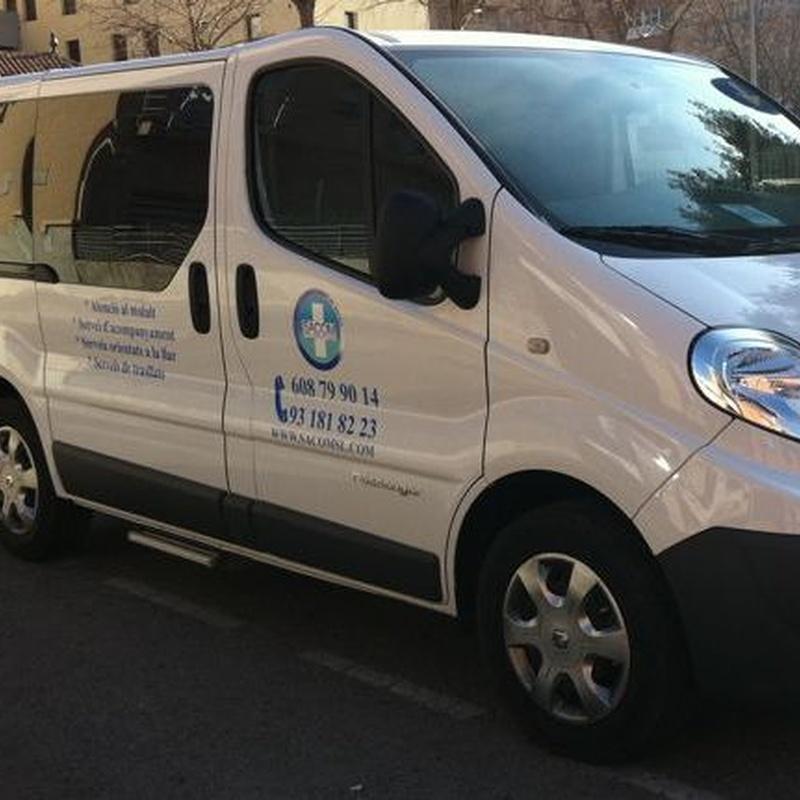 Vehículo adaptado y acompañamiento: Servicios de Sacom Serveis Geriàtrics
