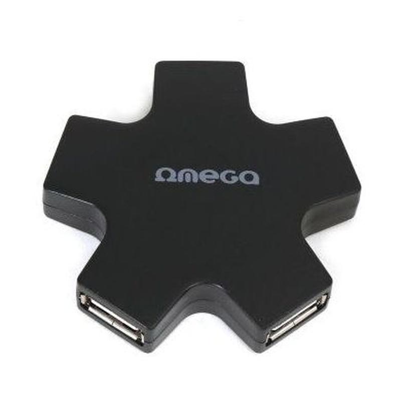 OMEGA OUH24SB HUB 4 PU USB 2,0 ESTRELLA NEGRO: Productos y Servicios de Stylepc