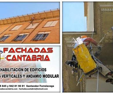 Reforma y restauración de edificios sin andamios. Trabajos verticales Santander-Cantabria.