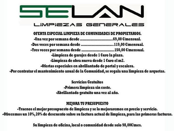 Oferta limpieza de comunidades Bilbao Selán desatascos