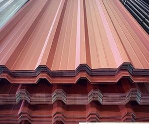 Chapa grecada lacada color terracota