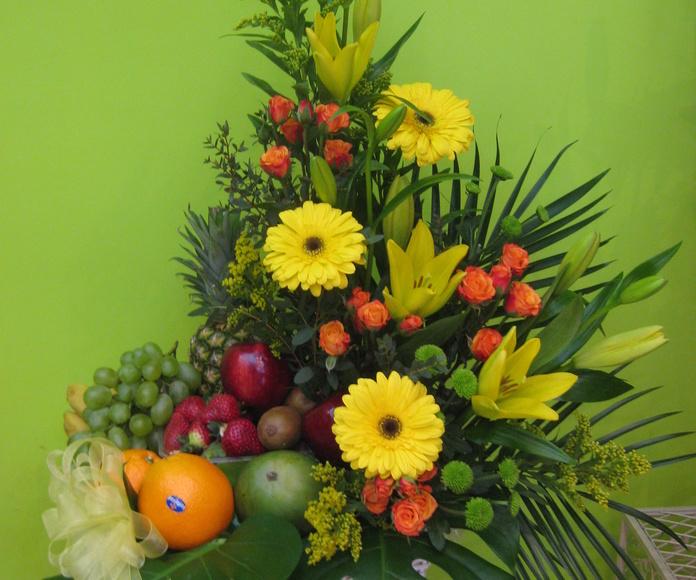 centro de flores y frutas, envio de flores a domicilio Madrid centro