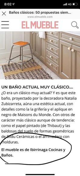 Cocinas Ibinarriaga vuelve a salir en la revista El Mueble