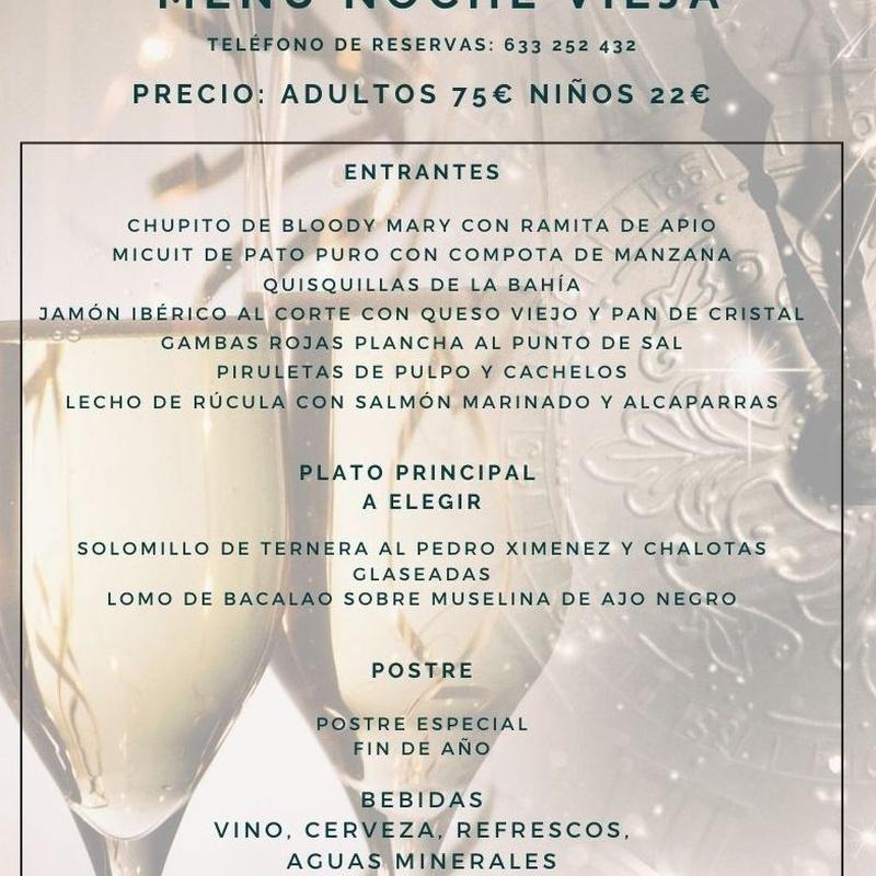 Menú Cena-Baile Noche Vieja 2019: Carta y Menús de Restaurante Bonavista