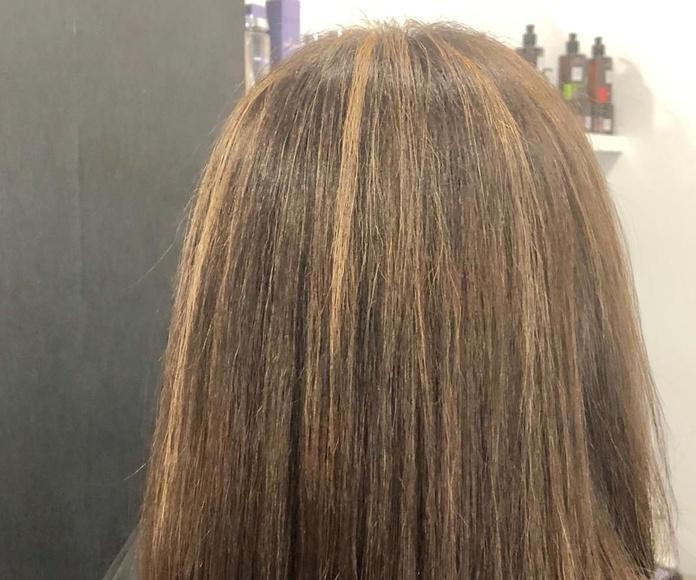 Mechas balayages cabello rubio