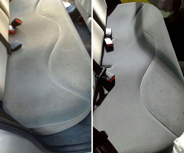 Limpieza de tapicerías de coches en A Pobra do Caramiñal