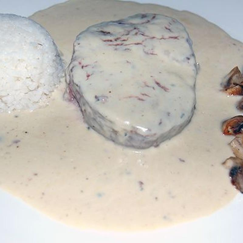 Filete de solomillo al roquefort: Carta y Menús de Cantarradas