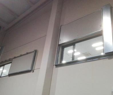 Puertas y ventanas cortafuegos contra incendios corredizas y guillotinas
