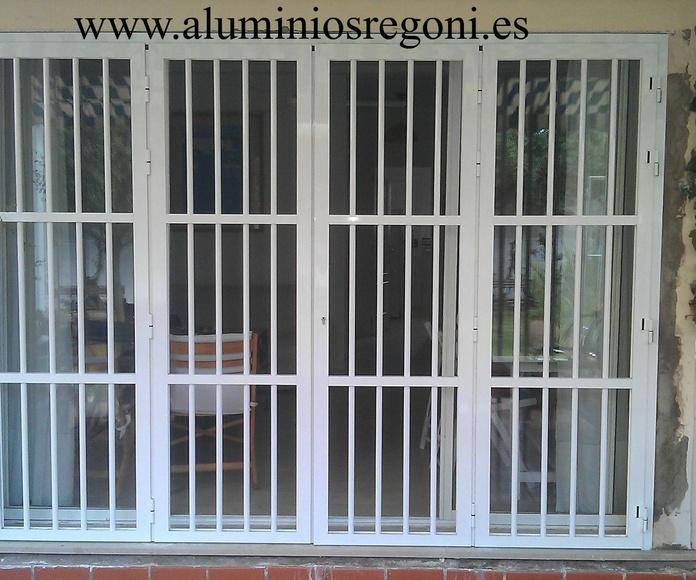 Puerta reja de aluminio