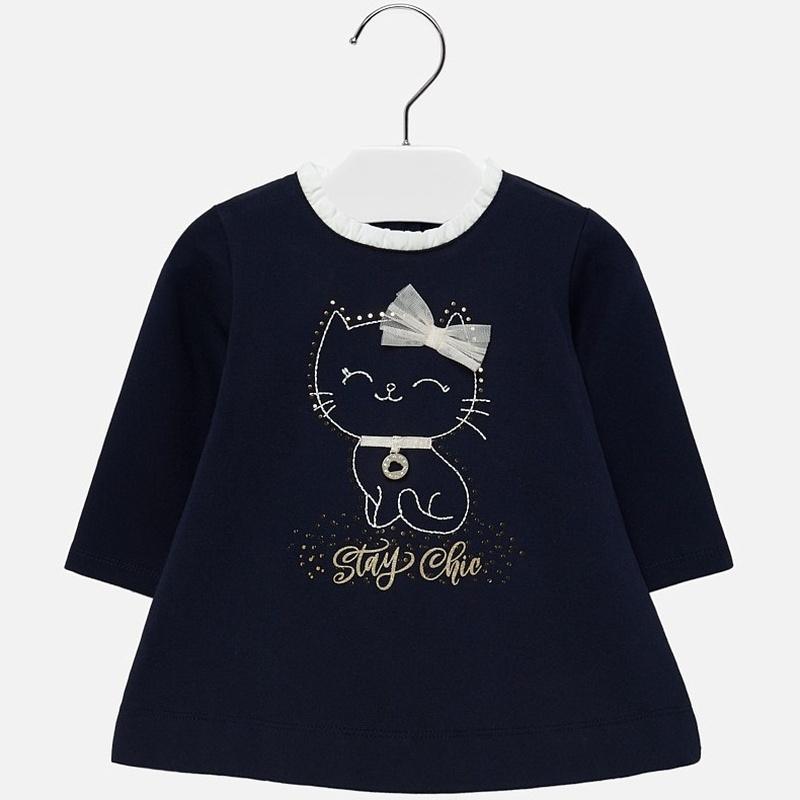 Vestido punto gatita niña