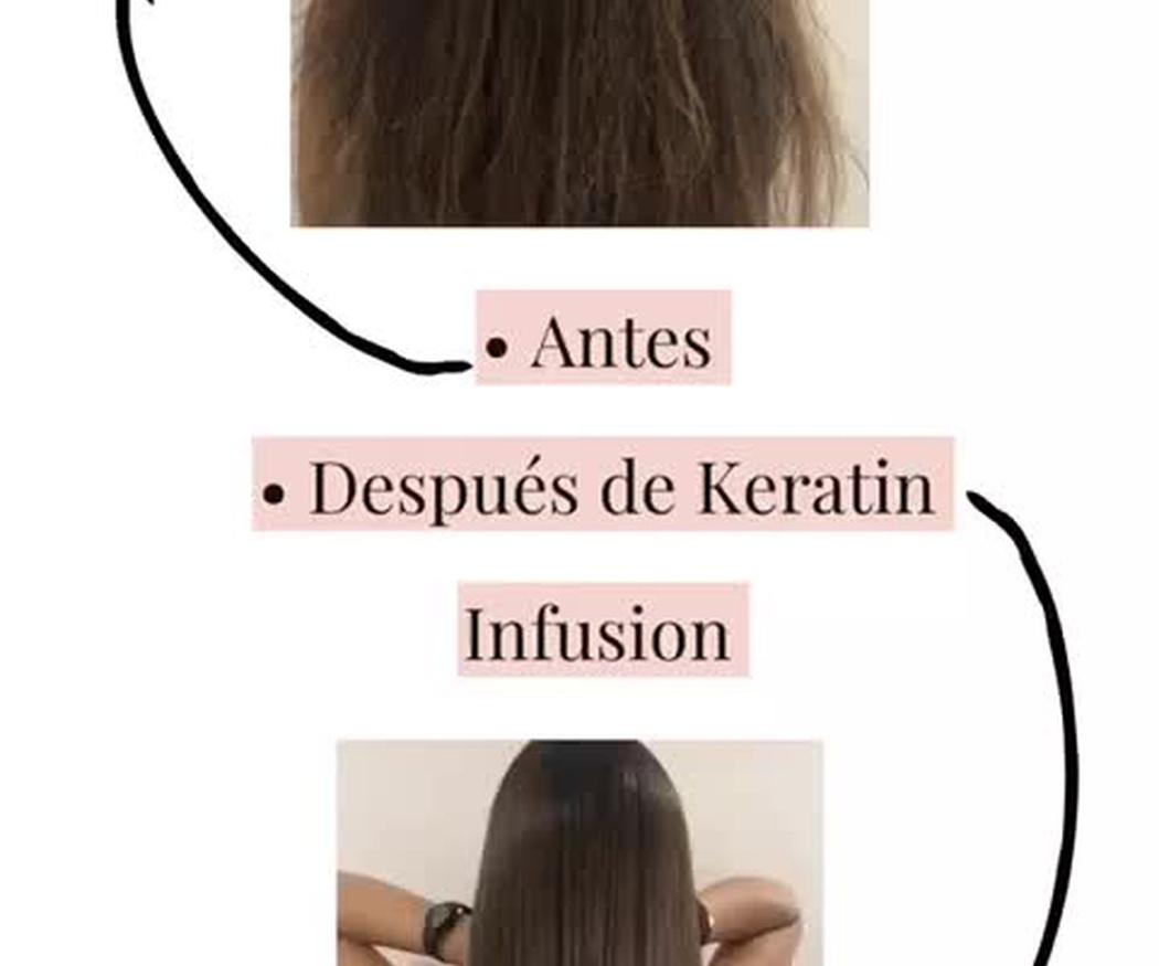 Keratin Infusion: Alisado natural 100% vegano: nutre y reestructura la fibra capilar. Alisado brillante y natural