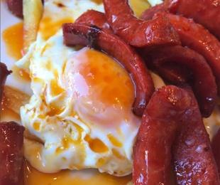 Los huevos y patatas