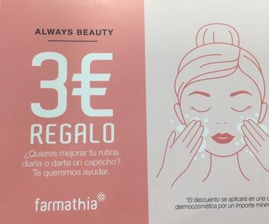 PROMOCIÓN 3€ REGALO -FARMATHIA-