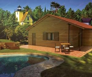 Casa madera mediana