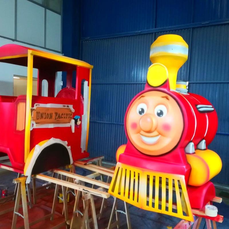 Cabina de tren infantil: Catálogo de Hinchables Happy Jump
