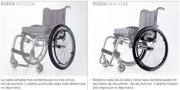 Ruedas de recambio para sillas de ruedas