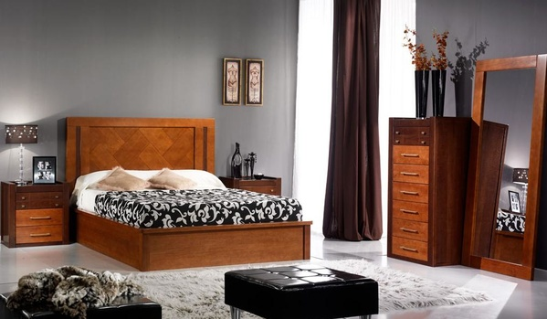 Dormitorio en roble macizo.