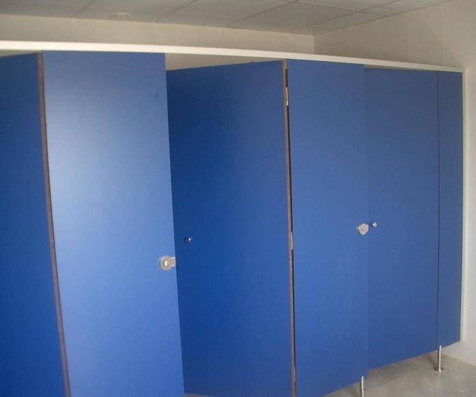Cabinas modelo E color azul 859