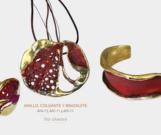 Maureen Colgantes grandes oro-rodio: Colecciones de Hakel Bisutería